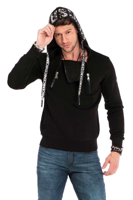 Cipo & Baxx Kapuzenpullover CL302 in Black günstig kaufen
