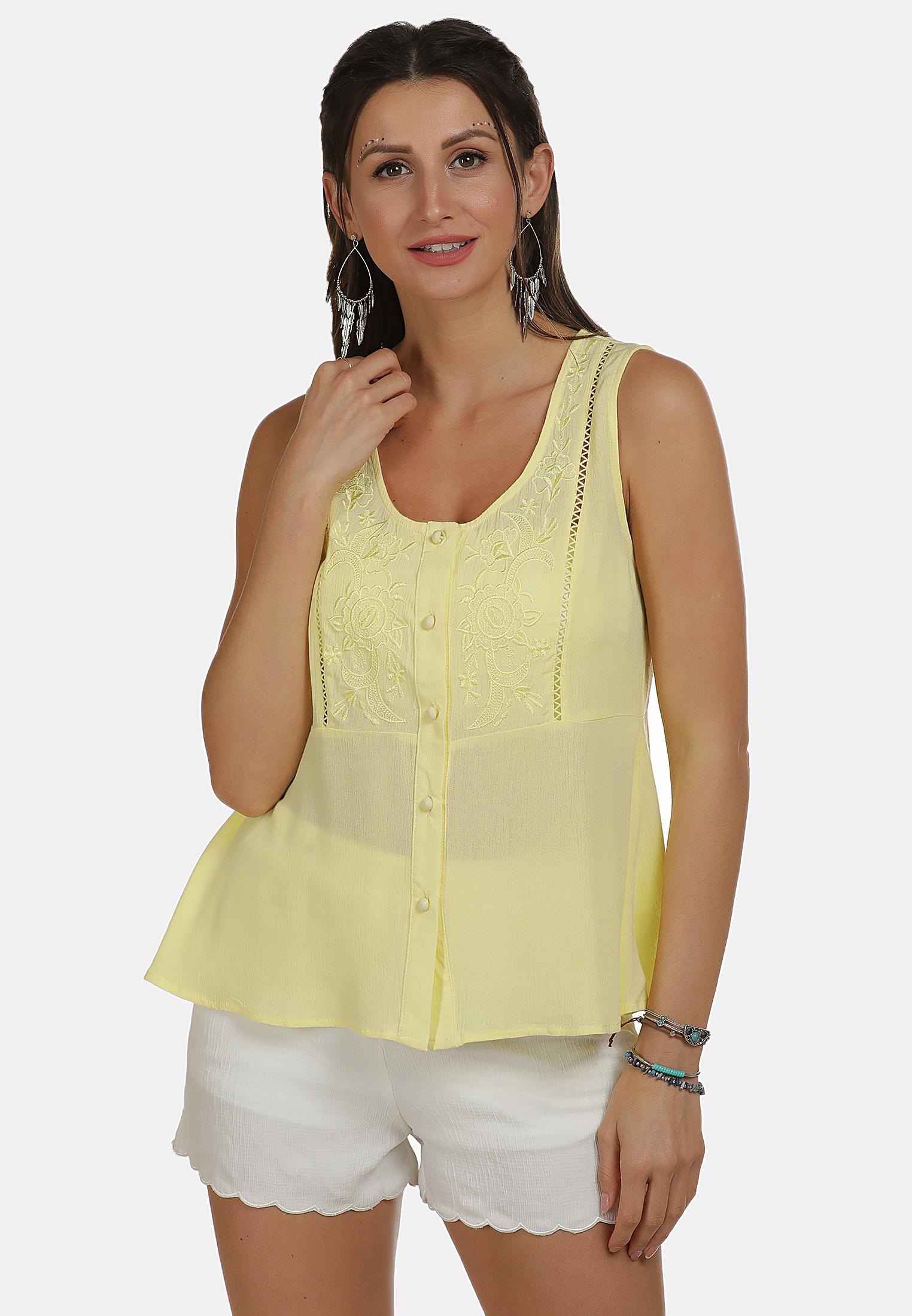 Usha FESTIVAL Bluse in hellgelb günstig kaufen
