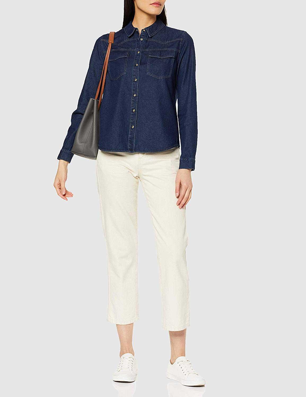 OPUS Jeanshemden in royalblau günstig kaufen