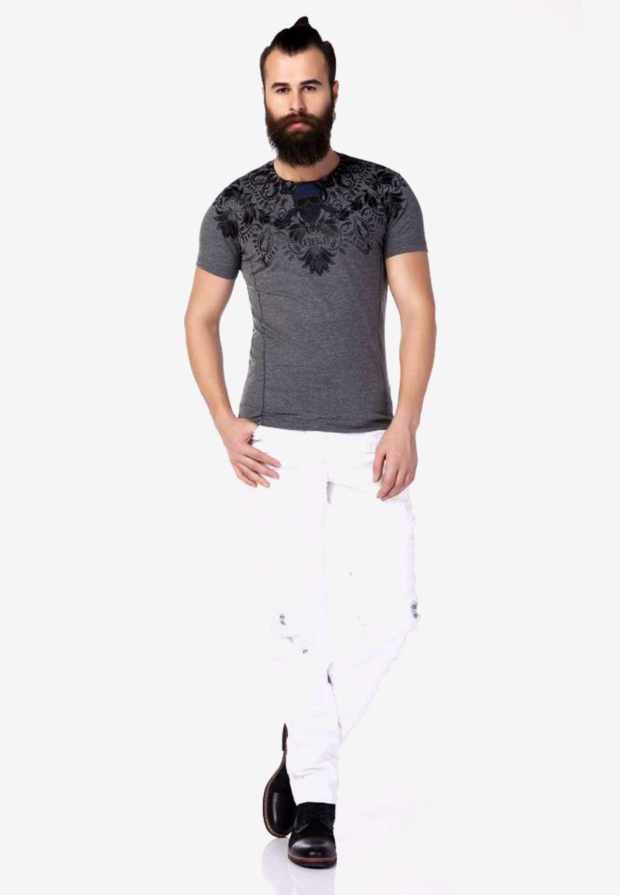 Cipo & Baxx T-Shirt in Anthracite günstig kaufen