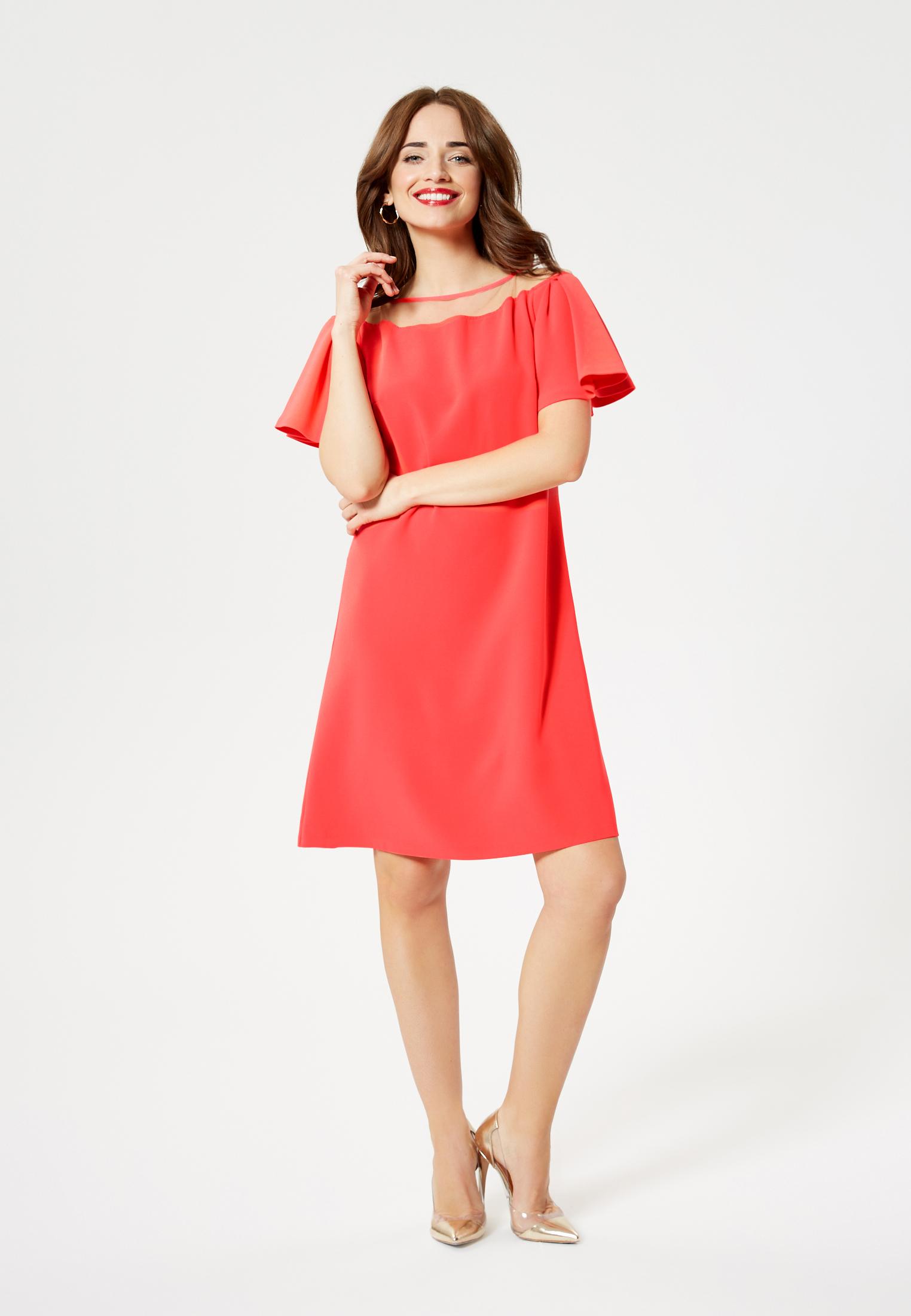 Faina Kleid in koralle günstig kaufen