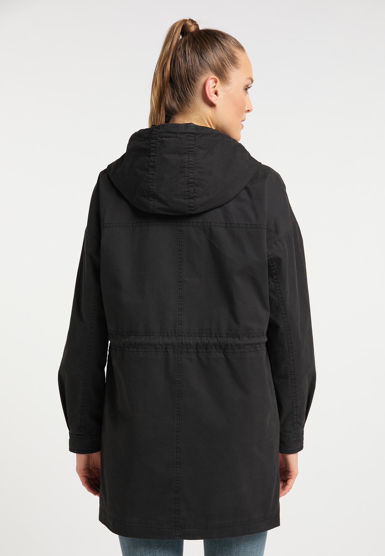 DreiMaster Vintage Parka Aus Baumwolle in schwarz günstig kaufen