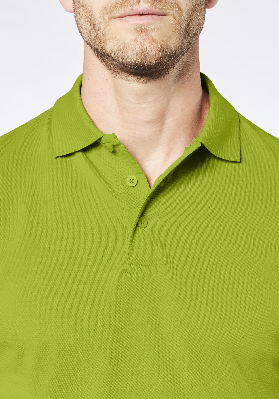 Expand Herren Arbeits Poloshirt Übergröße in grasgrün günstig kaufen