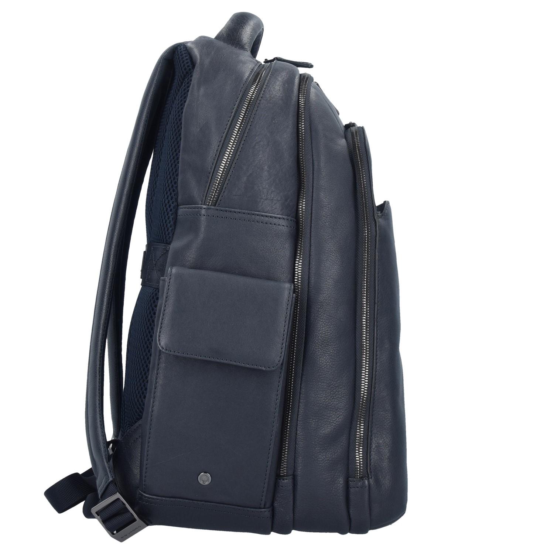 Piquadro Black Square 3444 Rucksack Leder 43 cm Laptopfach in blue günstig kaufen