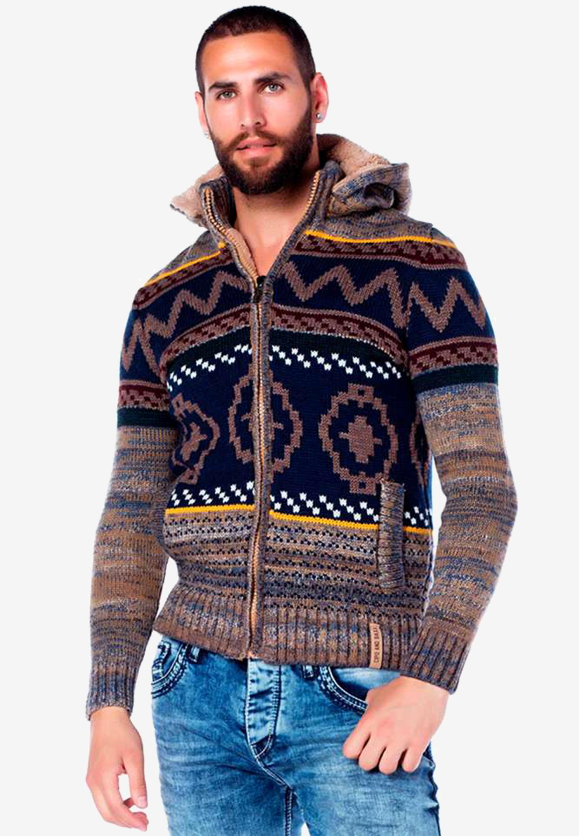 Cipo & Baxx Cardigan in Camel günstig kaufen