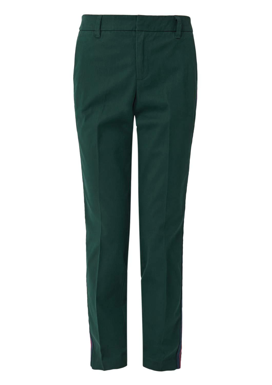 S. Oliver Bügelfaltenhosen in grün günstig kaufen