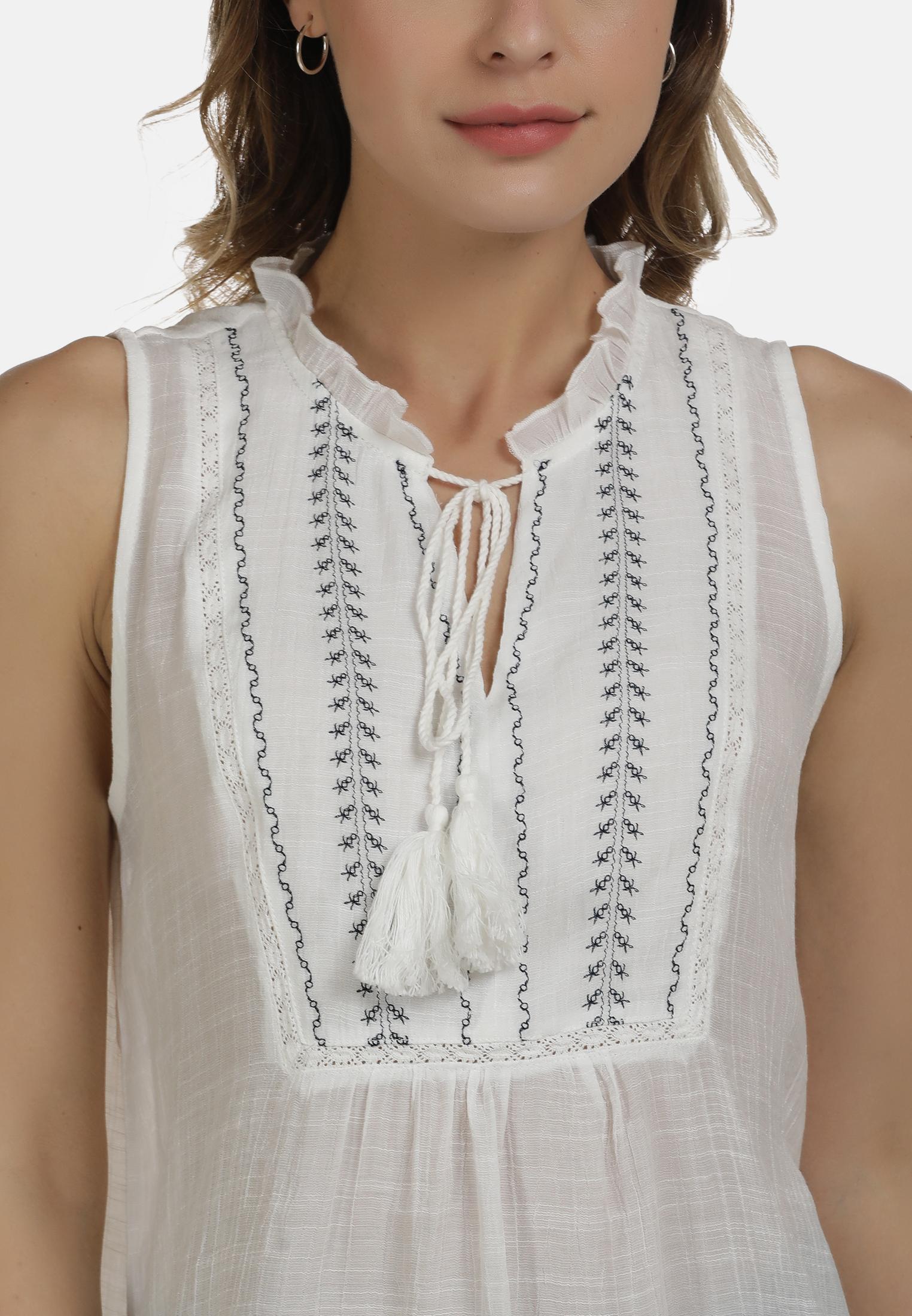 DreiMaster Vintage Bluse in wollweiss günstig kaufen