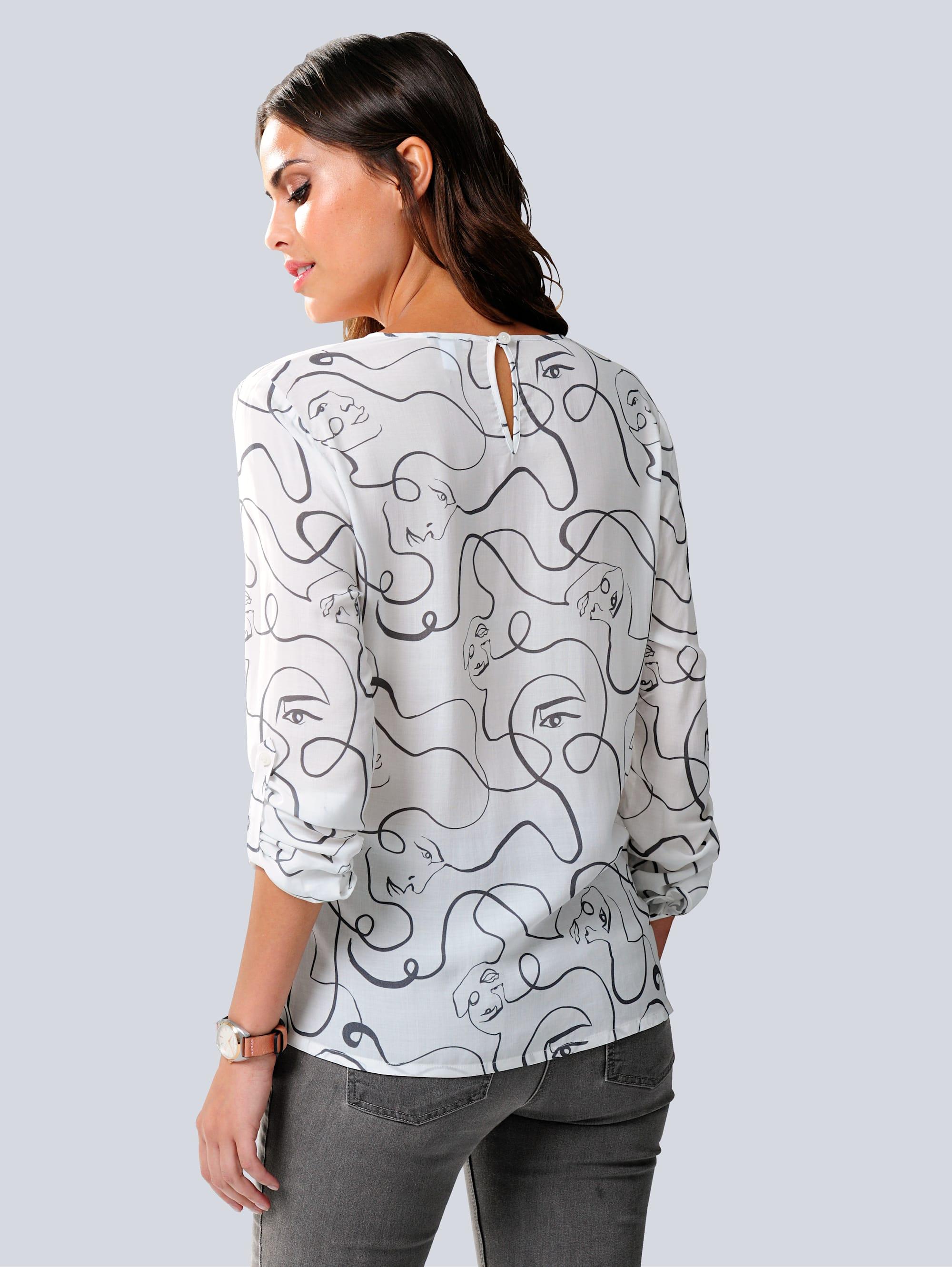 Alba Moda Bluse in Off-white,Grau günstig kaufen