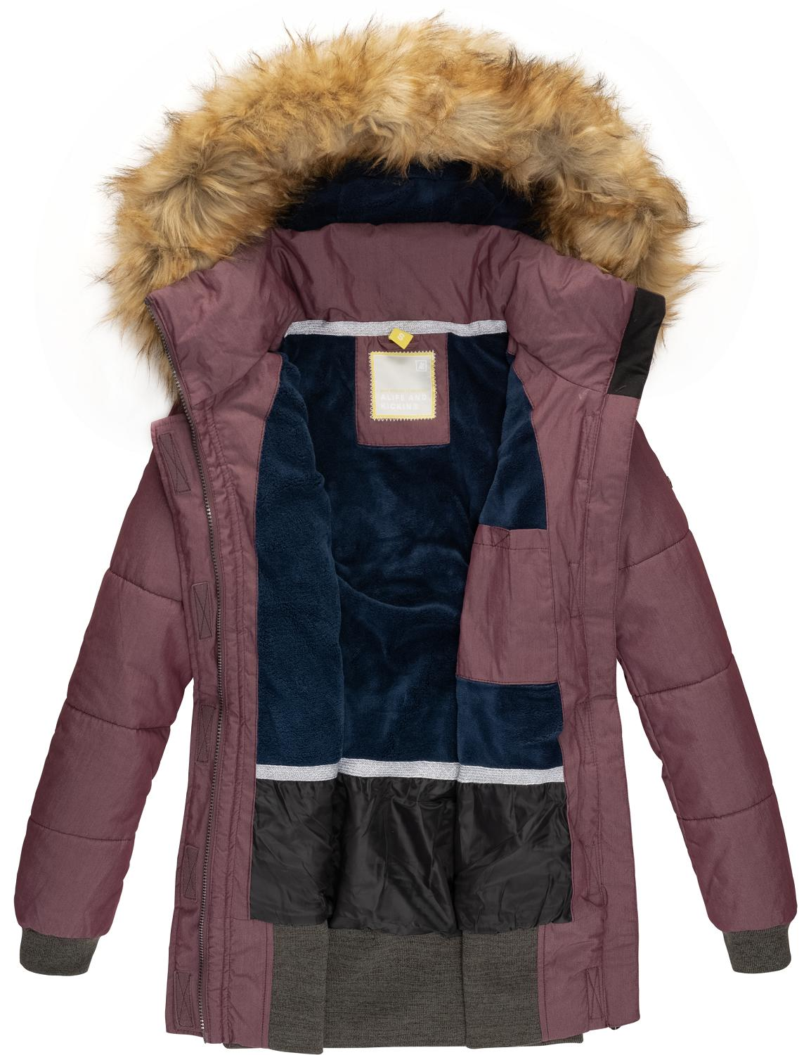 Alife and kickin Winterjacke Alva in Violett günstig kaufen