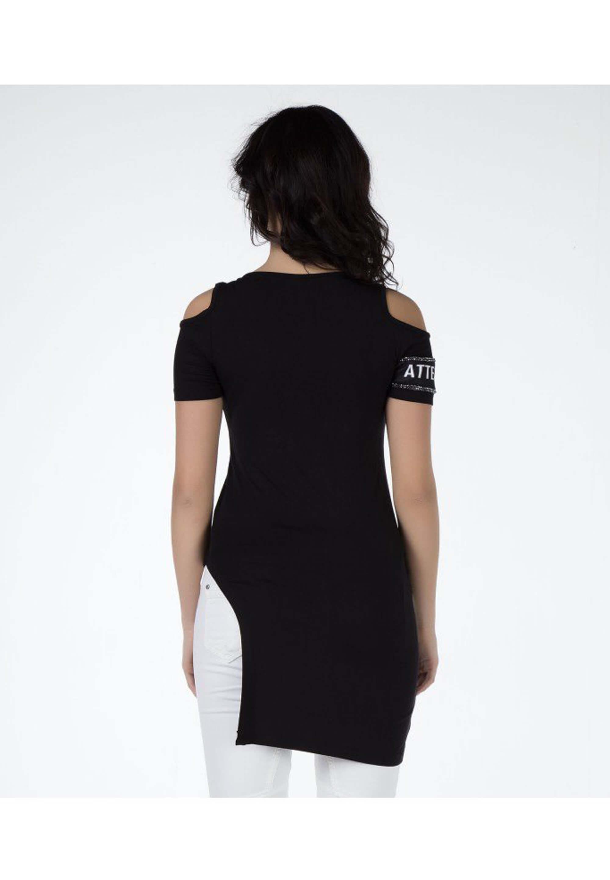Cipo & Baxx Rundhals-Shirt in Black günstig kaufen