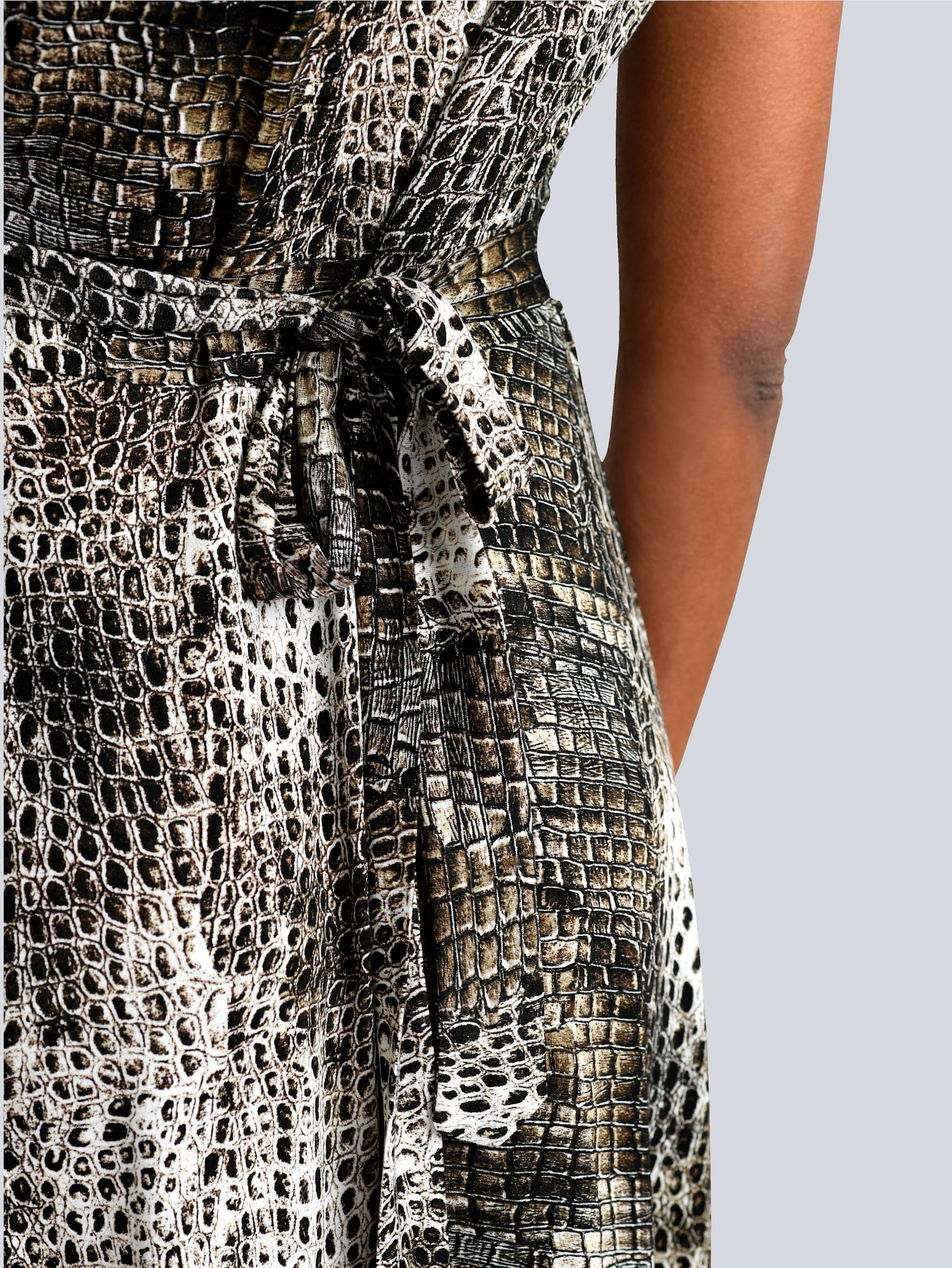 Alba Moda Kleid in Braun,Off-white,Schwarz günstig kaufen