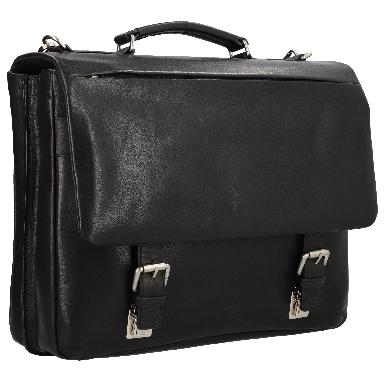 Jost Malmö Aktentasche Leder 41 cm Laptopfach in schwarz günstig kaufen