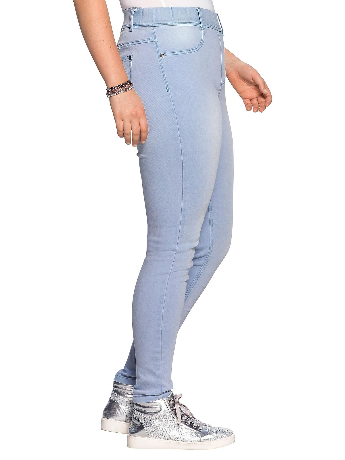 Sheego Jeggings in light blue Denim günstig kaufen