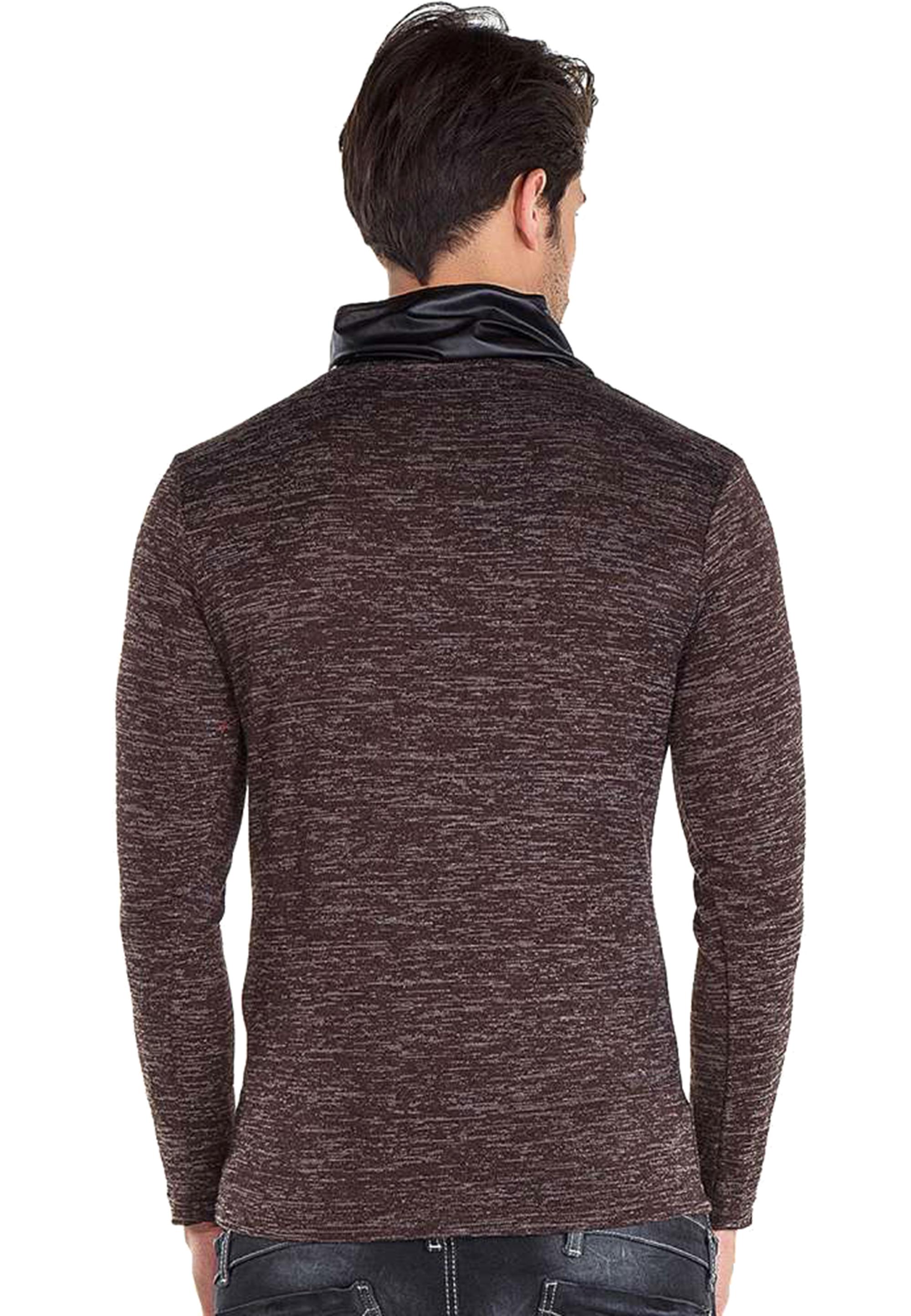 Cipo & Baxx Pullover in Brown günstig kaufen