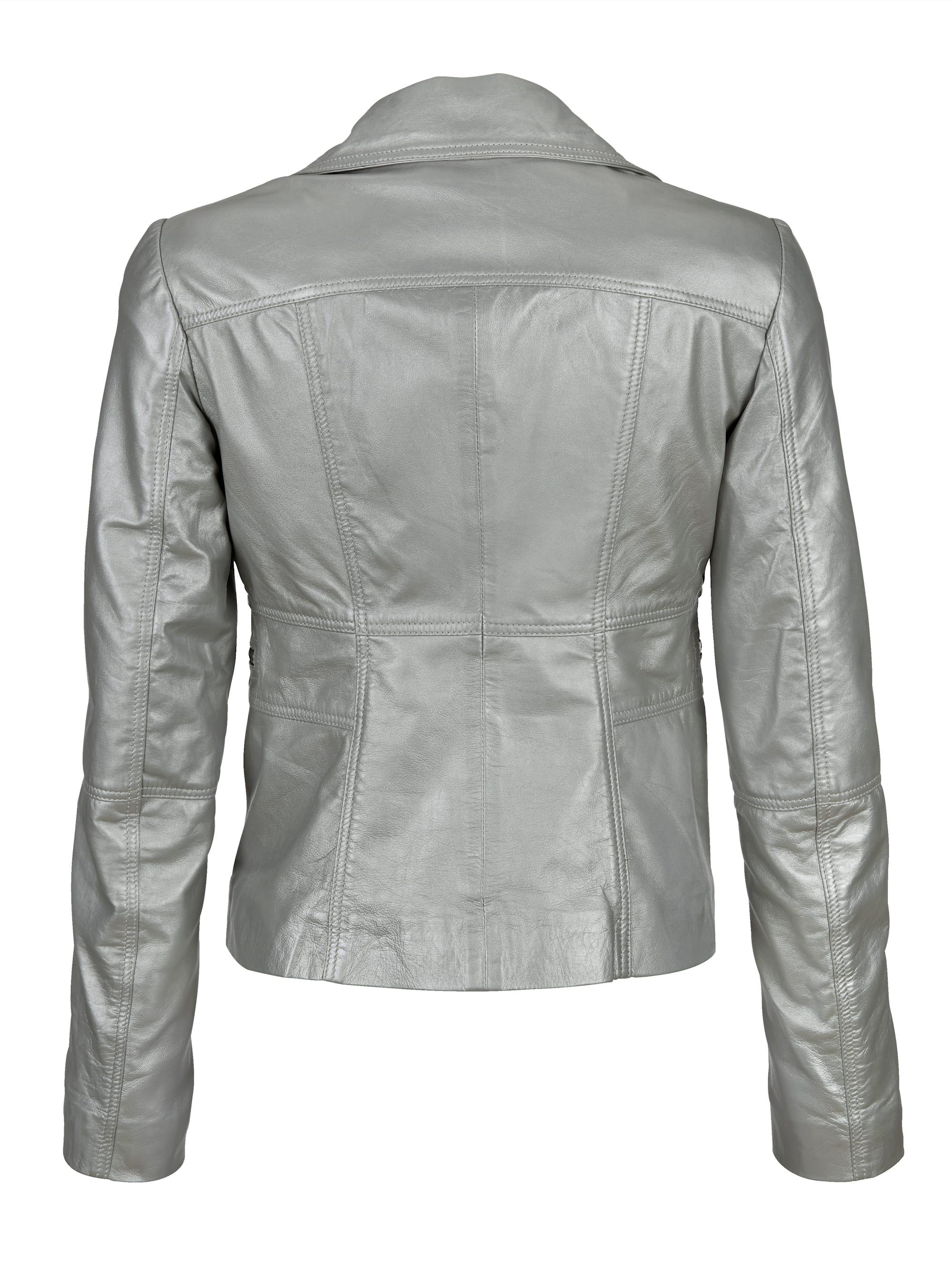 AMY VERMONT Lederjacke in Silberfarben günstig kaufen