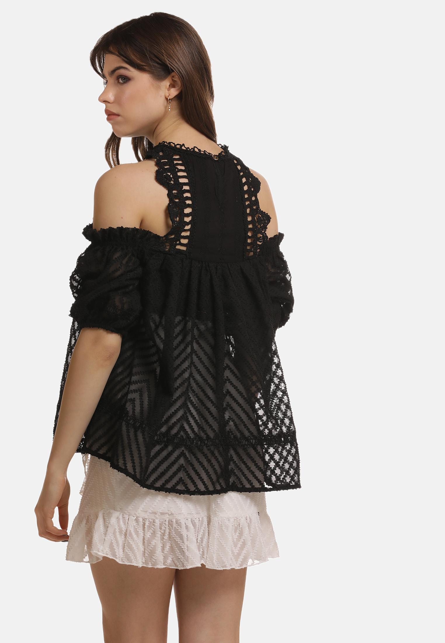 MyMo ROCKS Bluse in schwarz günstig kaufen