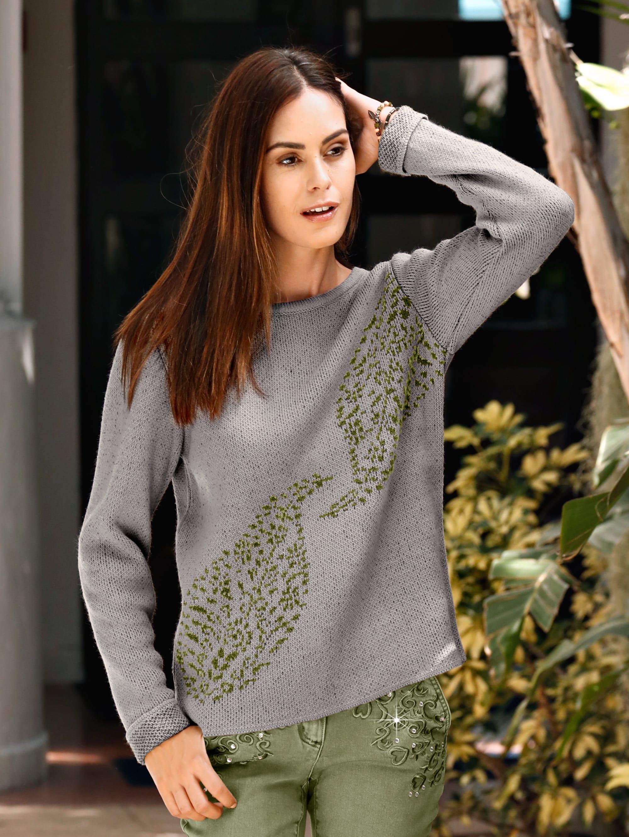 Laura Kent Pullover in Grau günstig kaufen