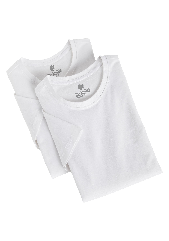 Oklahoma Premium Denim T-Shirt in Bright White günstig kaufen