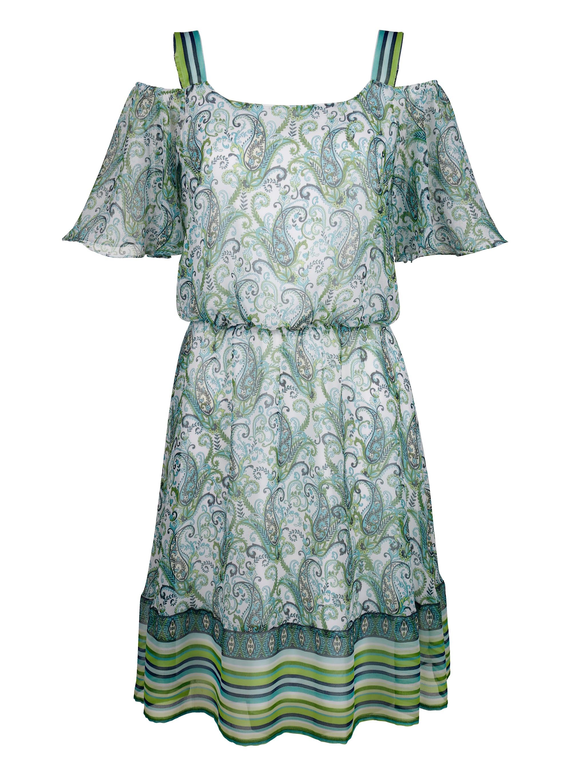 Laura Kent Druckkleid in Weiß günstig kaufen