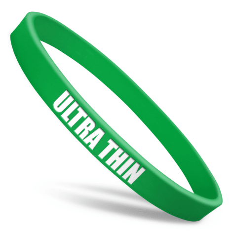 Ultra Thin Silicone Wristbands