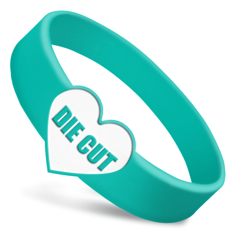Die Cut Silicone Wristbands