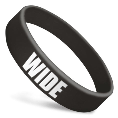 Wide Silicone Wristbands