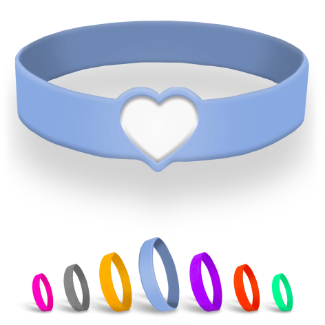 Die Cut Silicone Wristbands