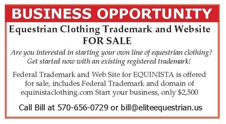 Equestrian Clothing Trademark And Website For Sale