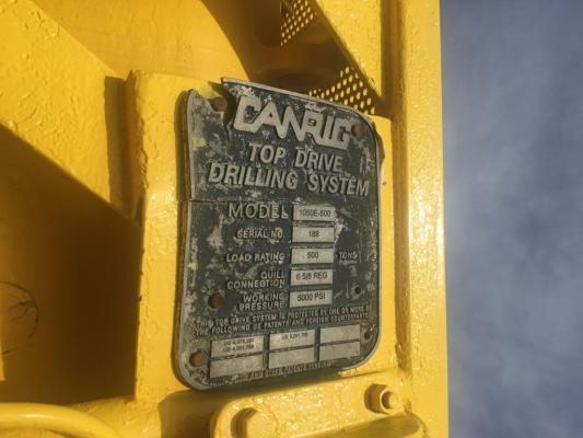 Canrig 1050 Top Drive Available