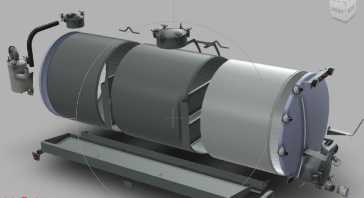 Steel Tank Industrial Vacuum Equipment Manufacture