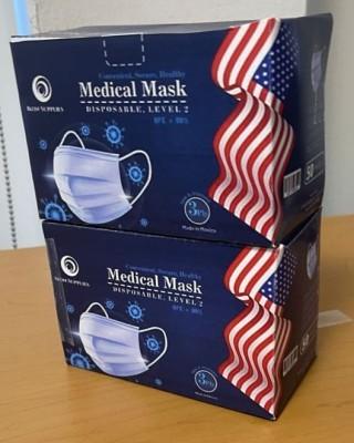 1.3 Million Boxes of Blue 3-Ply Masks OTG