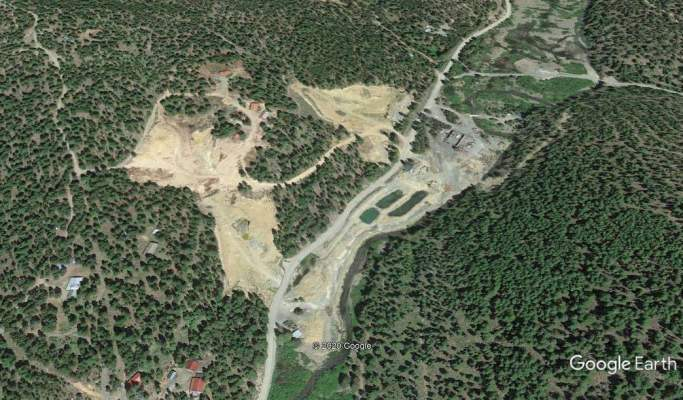 Operational Oregon Placer Mine, Private Land
