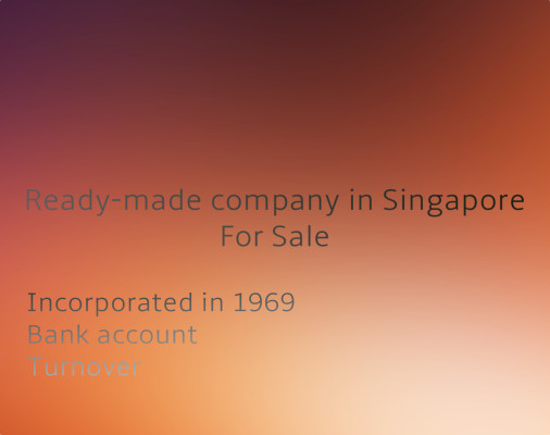 Ready-made Company with Bank Account in Singapore