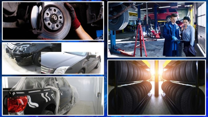 Tire Sales, Auto Repair & Body w/Property
