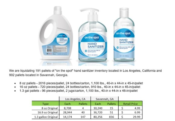 On-the-Spot Sanitizers