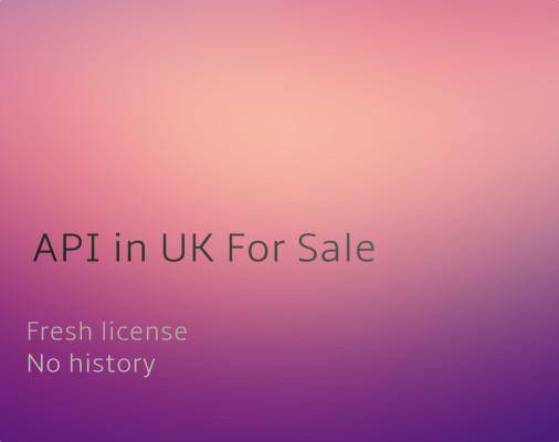 API in UK For Sale
