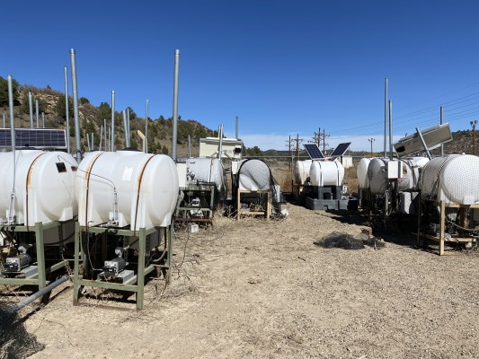 330 Gallon Chemical Tanks with Chemical Pumps