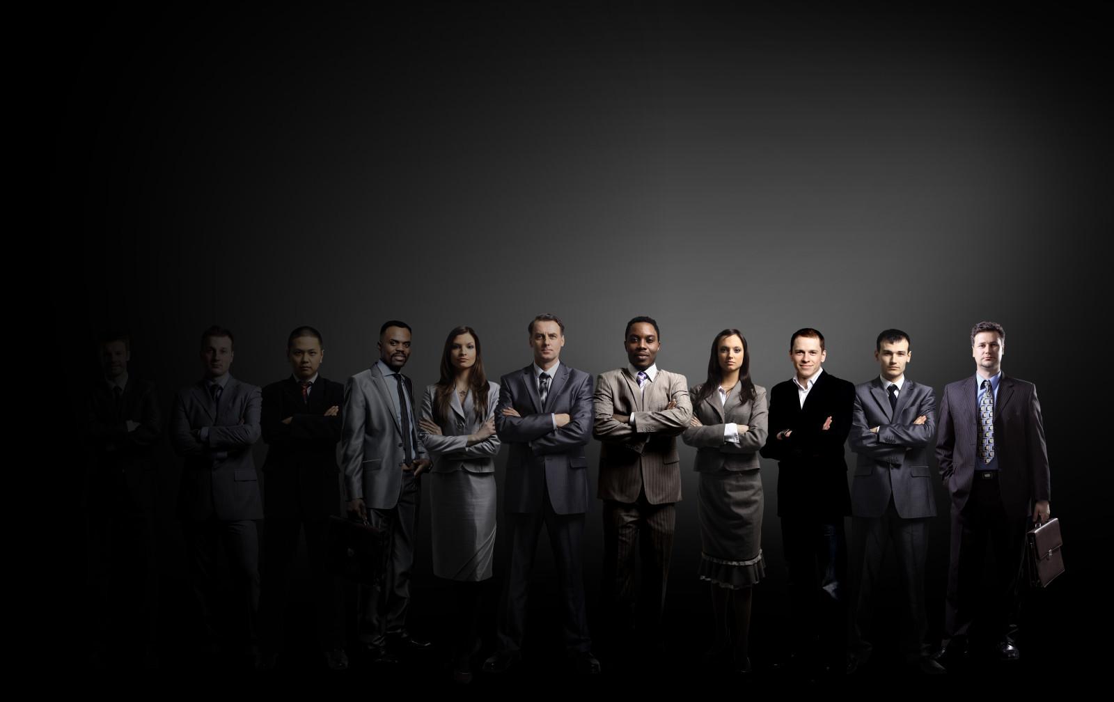 Line up of business entrepreneurs