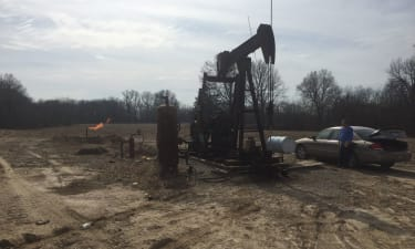 Producing Horizontal Well Ready For Frack