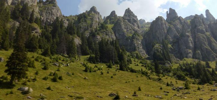 La Varful Omu prin Valea Gaura