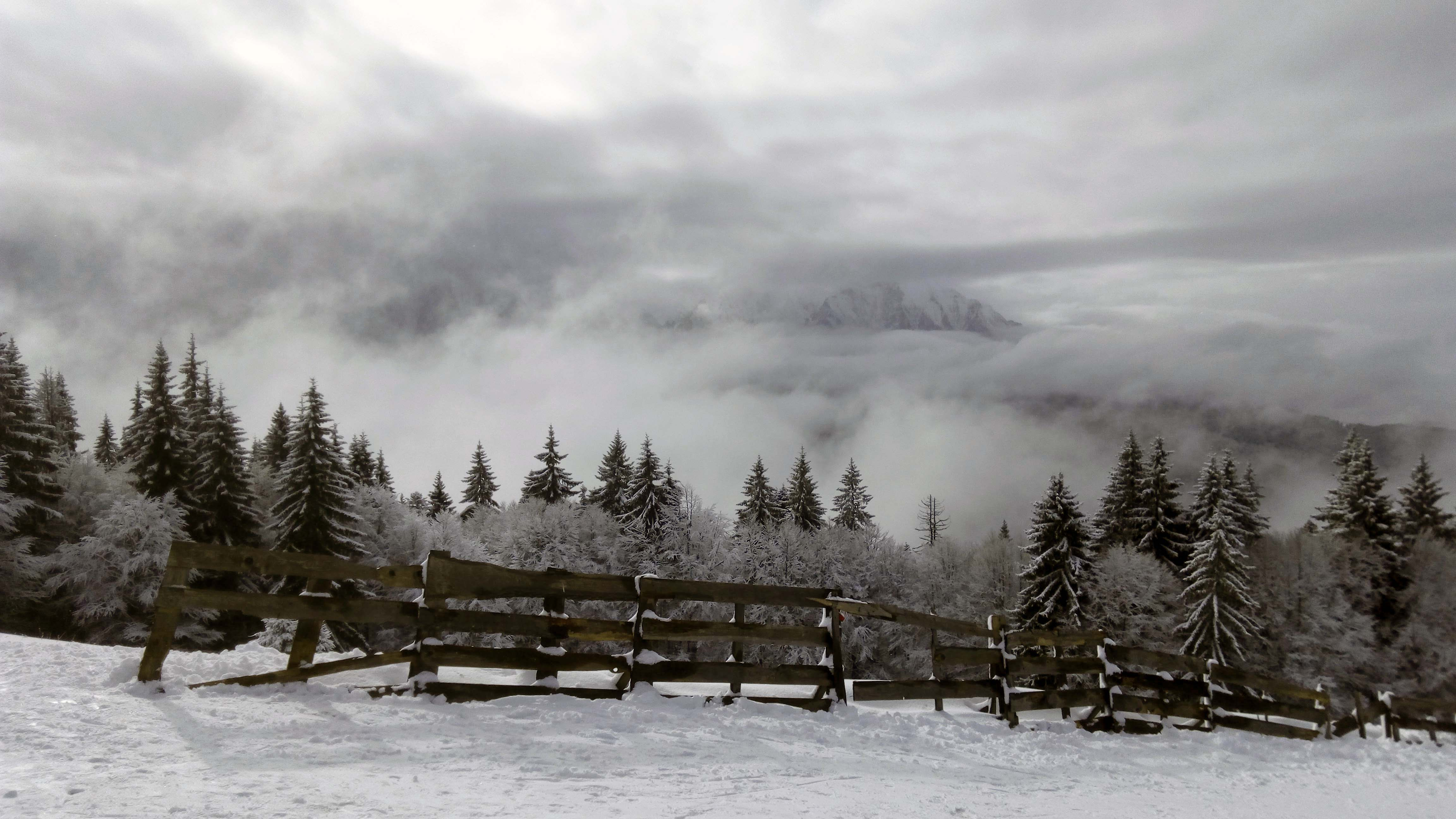 Bucegii in nori