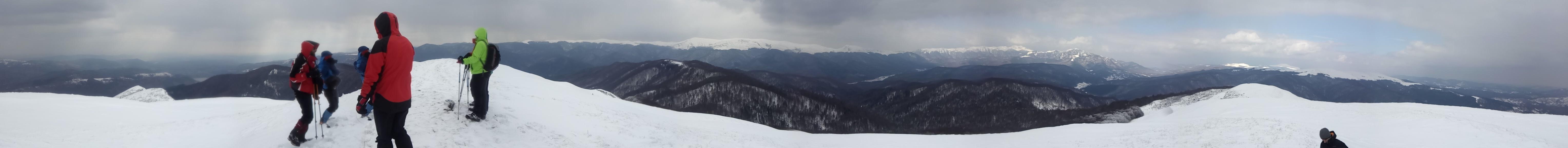 Panorama de pe Clabucetul Maneciului