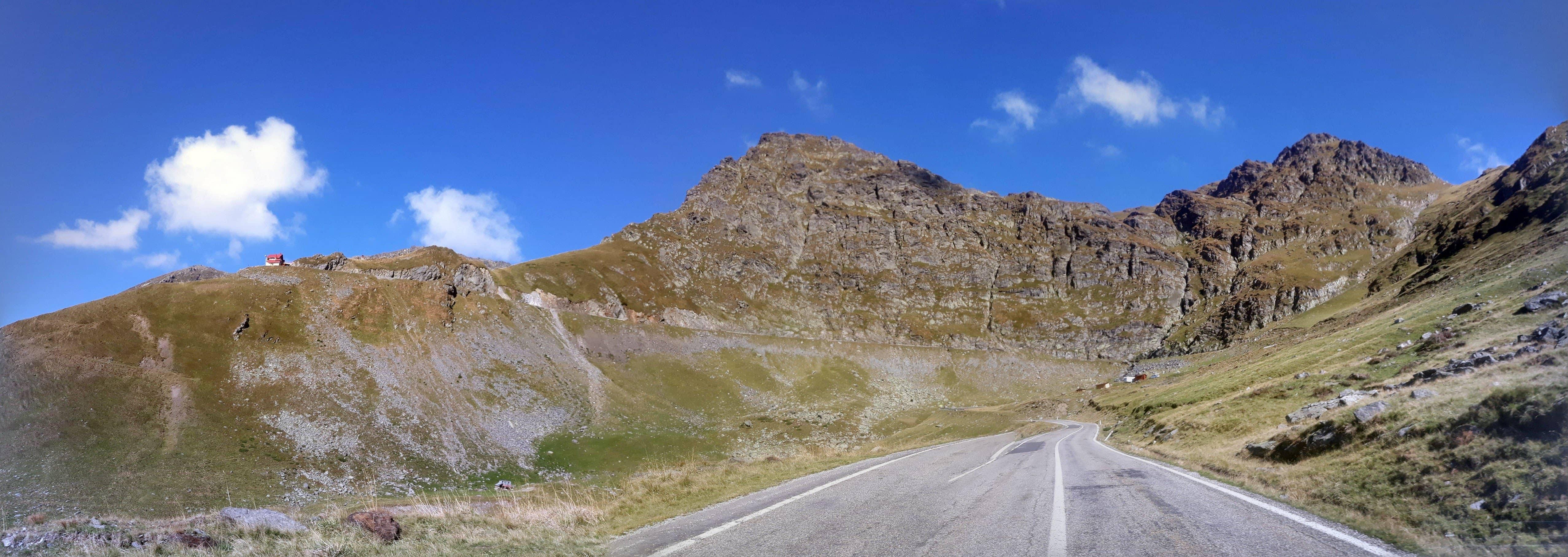 Panorama de pe Transfagarasan, inainte de Cascada Capra