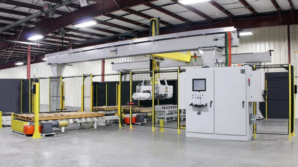 Palletizer for Rolled Roofing | MESH Automation