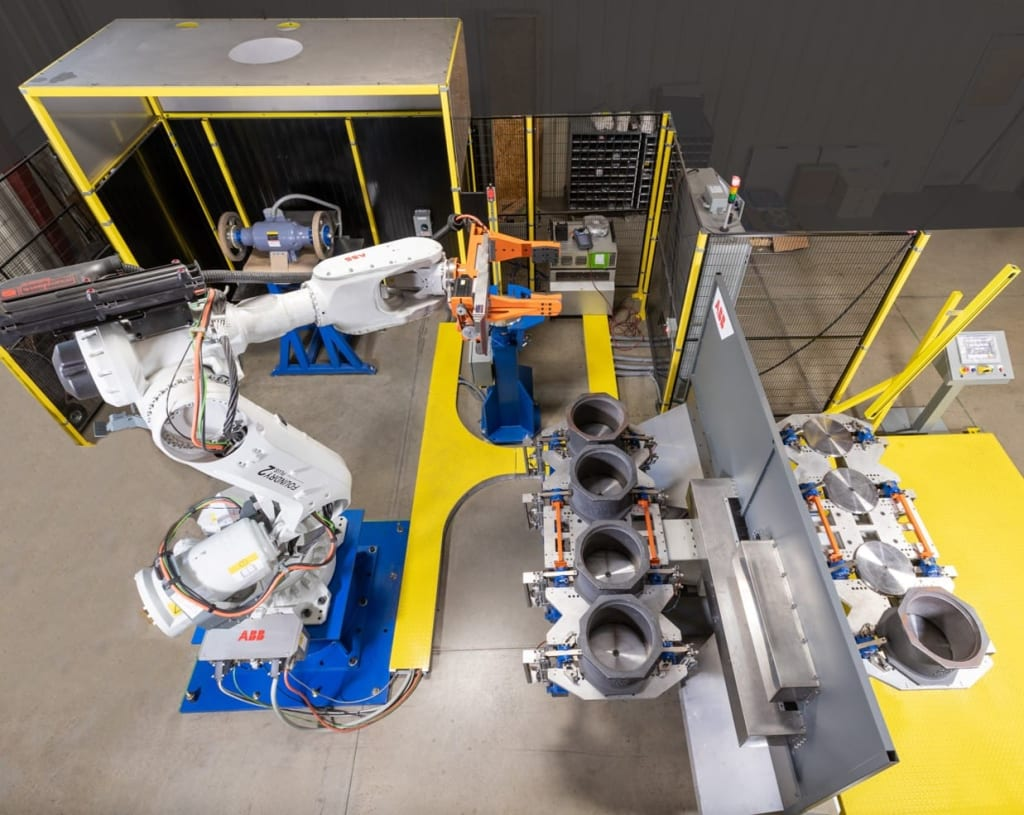 Robotic Grinding of Foundry Parts | MESH Automation
