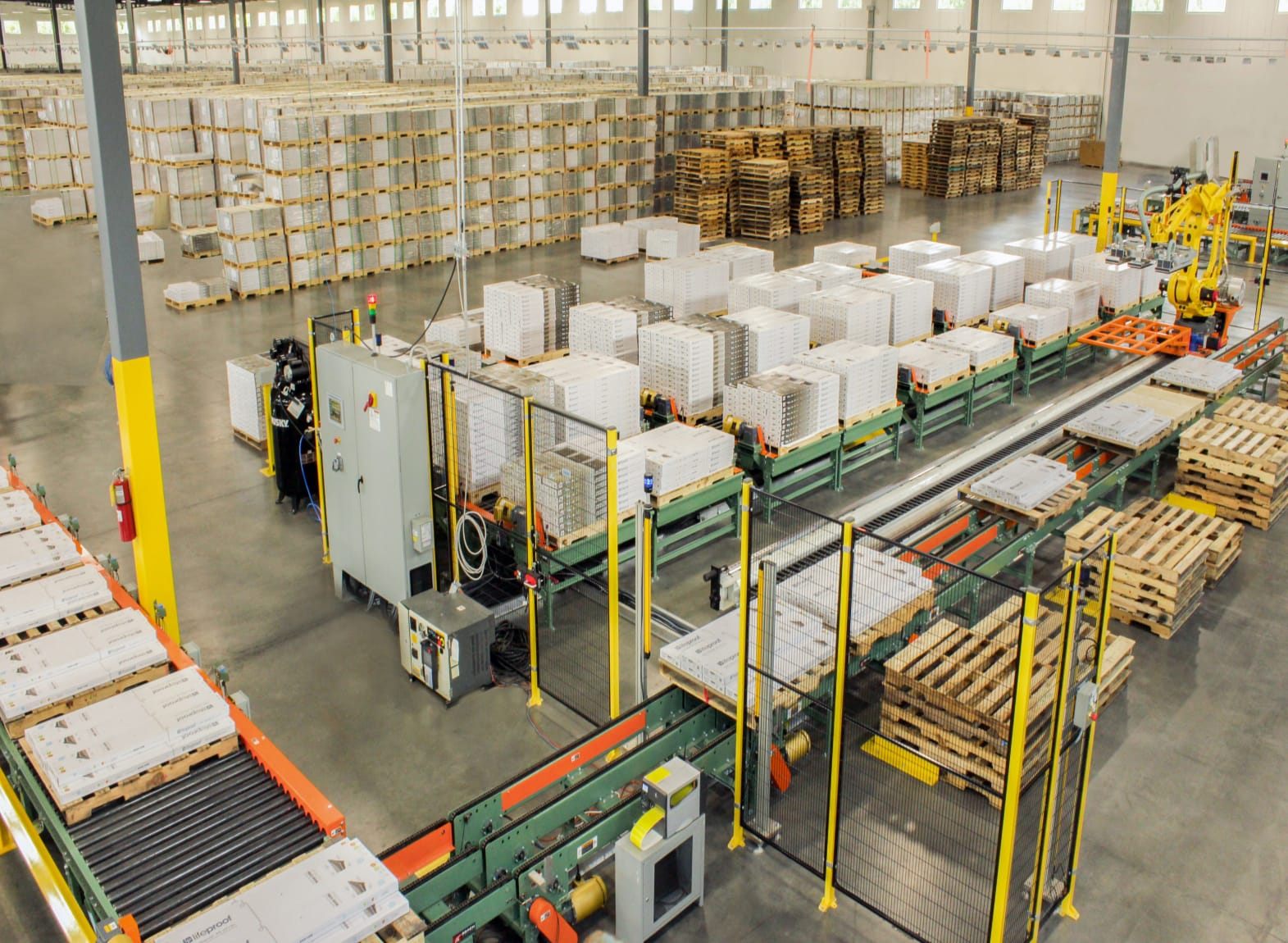 robotic palletizing system for mixed cases