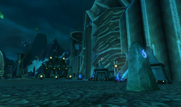 Icecrown Citadel entrance and summoning stone