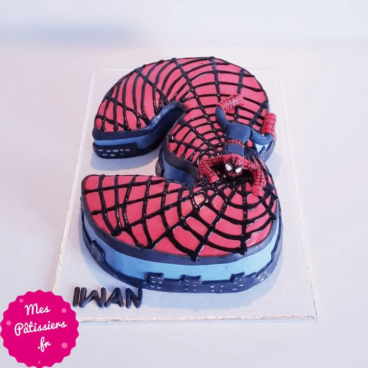 Number cake Spiderman (chiffre au choix)