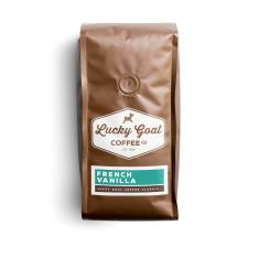 Bag of whole bean French Vanilla coffee, roasted by Lucky Goat Coffee Co.