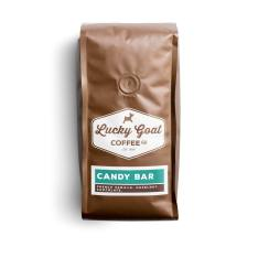 Bag of whole bean Candy Bar coffee, roasted by Lucky Goat Coffee Co.